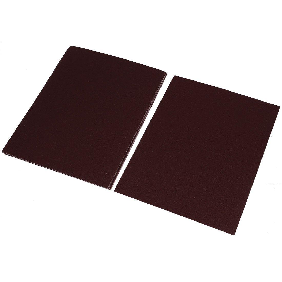 Aexit Brown Aluminium Abrasive Wheels & Discs Oxide Sanding Sheet Square Sand Paper 80 Flap Wheels Grit 10pcs