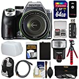 Pentax K-70 All Weather Wi-Fi Digital SLR Camera & 18-135mm WR Lens (Silver) with 64GB Card + Backpack + Flash + Battery + Tripod + Filters + Remote + Kit