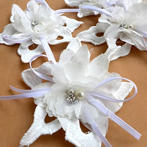 11.5cm handmade 3D flower off white chiffon with rhinestone applique patch diy sew-on accessorids 20 pieces/lot by Flowers,Collars,stickers