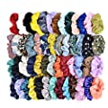 Cehomi 52Pcs Hair Scrunchies Velvet,Chiffon,Satin Elastic Hair Bands Scrunchie Bobbles Soft Hair Ties Ropes Ponytail Holder No hurt, Soft Hair Accessories for Women or Girls