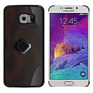 TECHCASE**Cubierta de la caja de protección la piel dura para el ** Samsung Galaxy S6 EDGE SM-G925 ** Design Techology Speaker Art Wallpaper Material