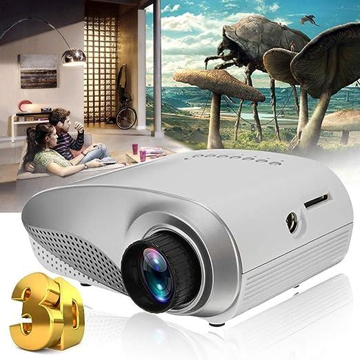 HWUKONG Mini proyector, DracoLight Full HD Portátil 1080P ...