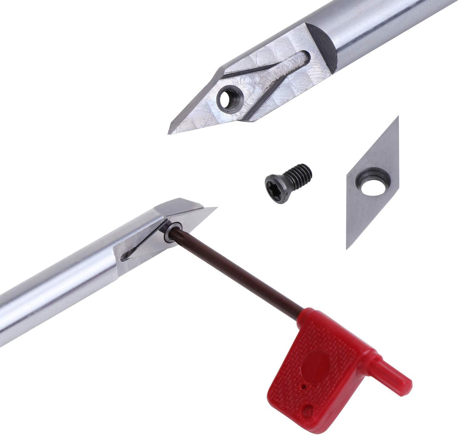 KEESIN Scalpello rotondo per tornitura del legno fai da te con inserto in carburo di diamante per falegnameria