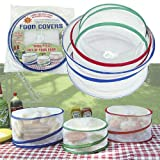 Set of 3 Pop up Food Covers Protects Food Inside Home or Outdoor Gathering