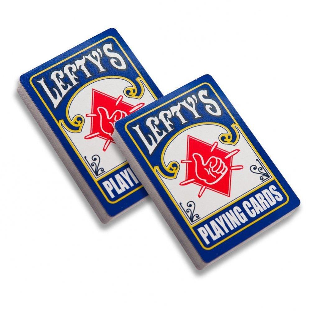 Lefty's True Left-handed Playing Cards 2 Decks