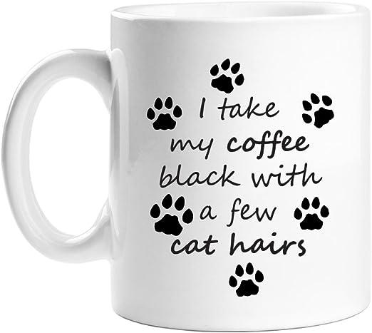 I Take My Coffee Black With Dog Hair Printed Mug