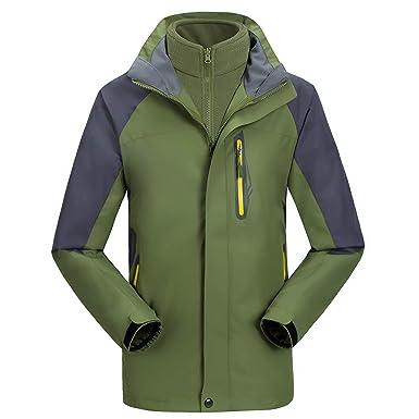 f7c8e57d5d UINTA OUTERWEAR Mountain Ski Jacket (Removable Fleece Layer) (Army Green