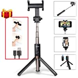 Maono AU-Z06 Integrated Selfie Stick Tripod with Bluetooth Remote, Extra Cell Phone Stand, Portable Monopod for iPhone X, 8, 7/7 Plus/6 Plus/6S Plus, Samsung Galaxy Series