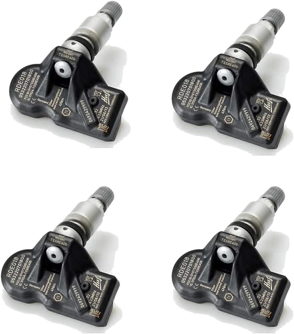 4x TPMS Reifendrucksensoren Metallventil Schwarz für Skoda Citgo Octavia