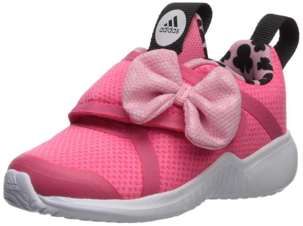 adidas Baby Fortarun X Minnie Running Shoe, Real Light Pink/Black, 9K M US Toddler