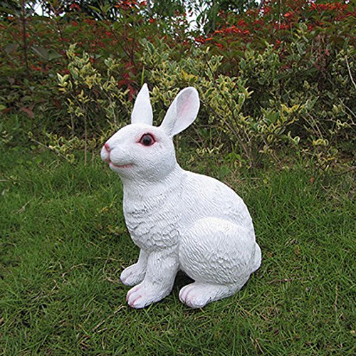 Cheap J-Beauty Outdoor White Rabbit Statue Garden Decor (A)