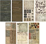 Crowded Attic Salvage Stickers by Tim Holtz Idea-ology, 372 Stickers, Paper, Multicolored, TH92898