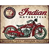 Tin Sign 1933 Indian Scout Motorcycle