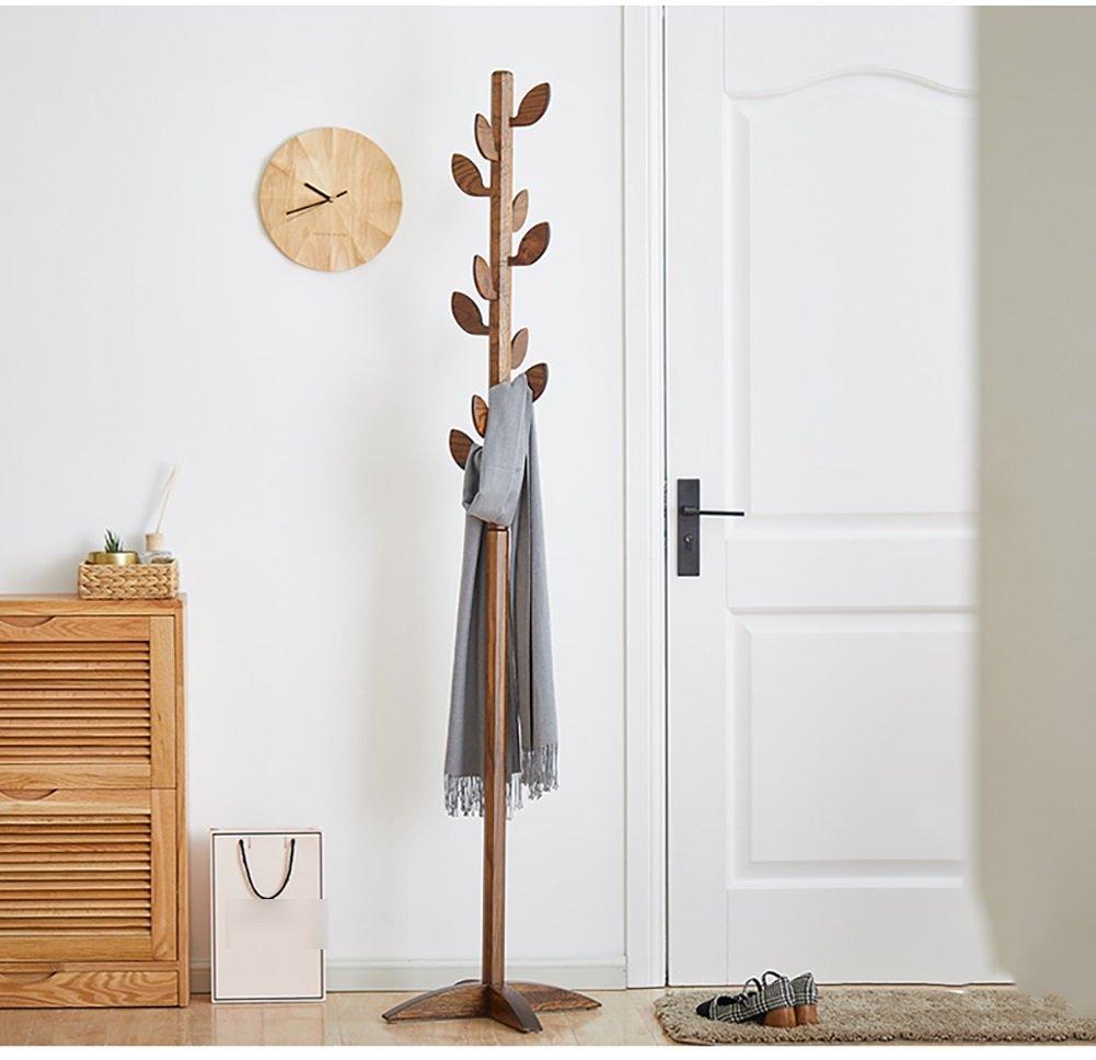 Amazon.com: LFF- Perchero de madera de roble para suelo ...