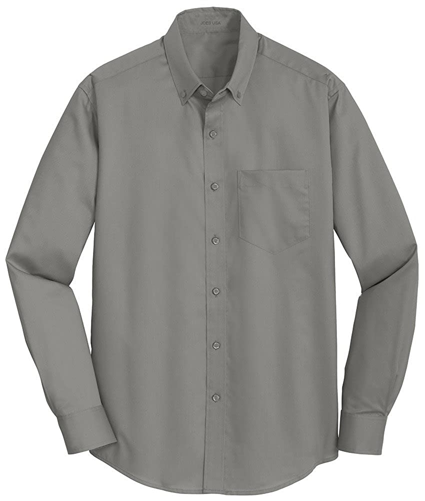 Joes USA Mens Button Down Twill Shirt Sizes XS-4XL