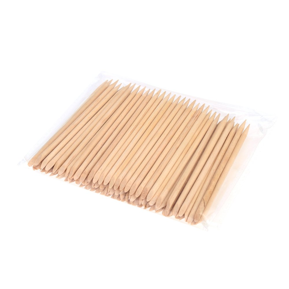 Anself 100pcs Nail Art Design Orange Wood Stick Cuticle Pusher Remover Manicure Care Professional Manicure Tools Accessories