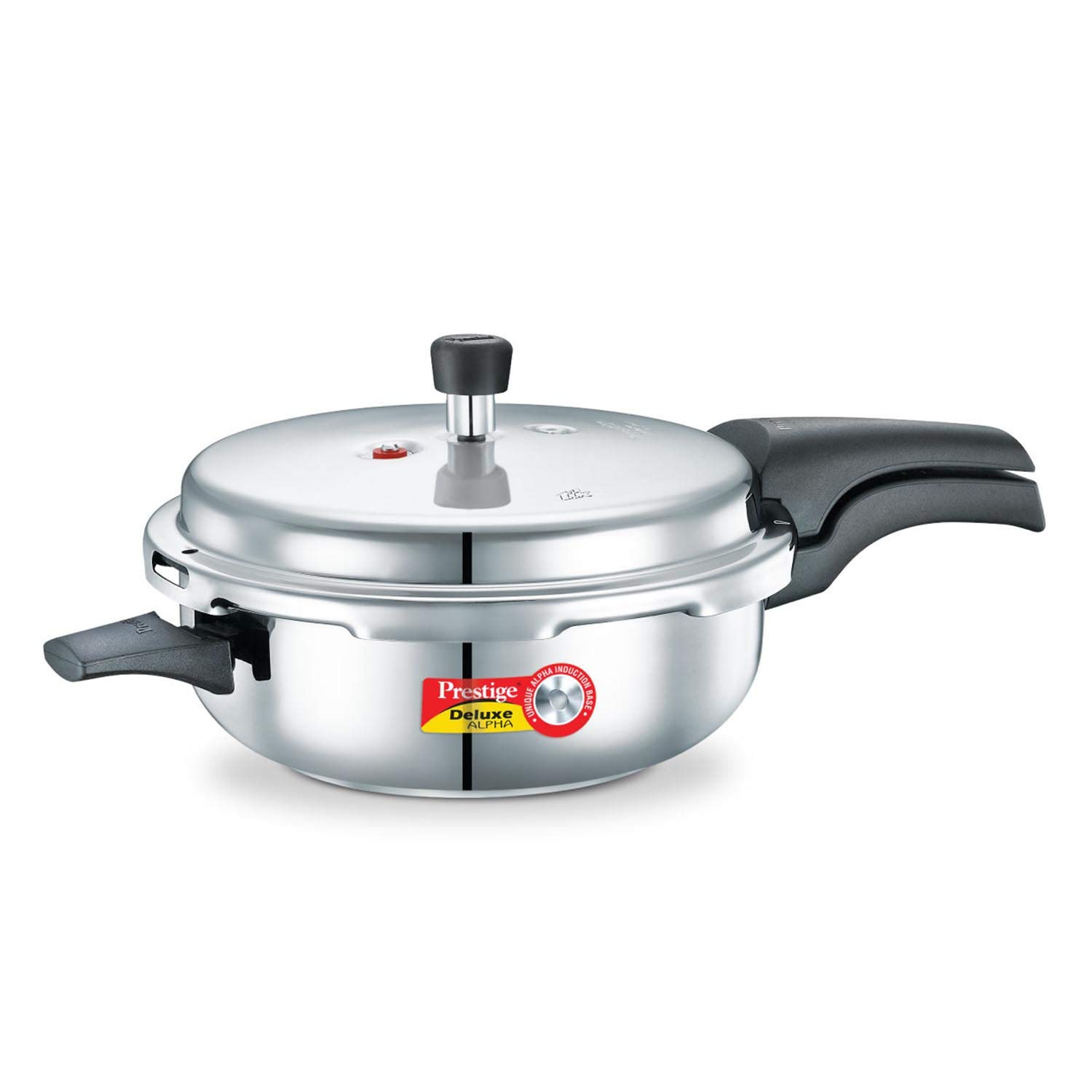 Prestige PRDASP Deluxe Alpha Induction Base Pressure Pan, Senior, Stainless Steel