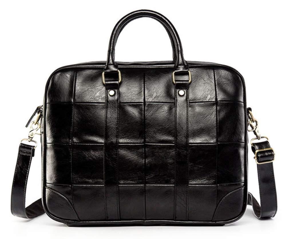 RSQJ Herren Aktentasche Handtasche Leder Freizeit Computer Tasche