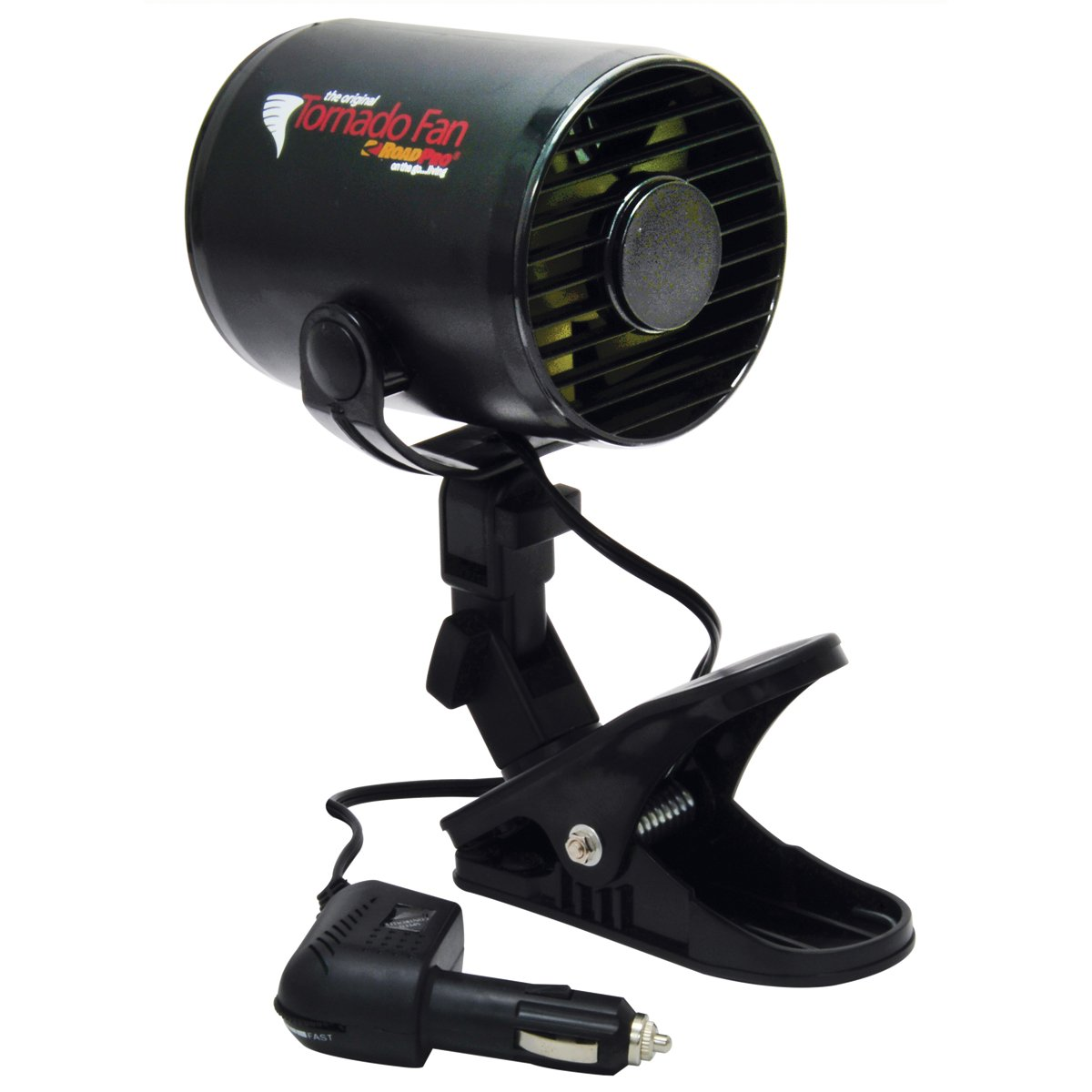 RoadPro 12V Tornado Fan with Removable Mounting Clip or Permanent Mount