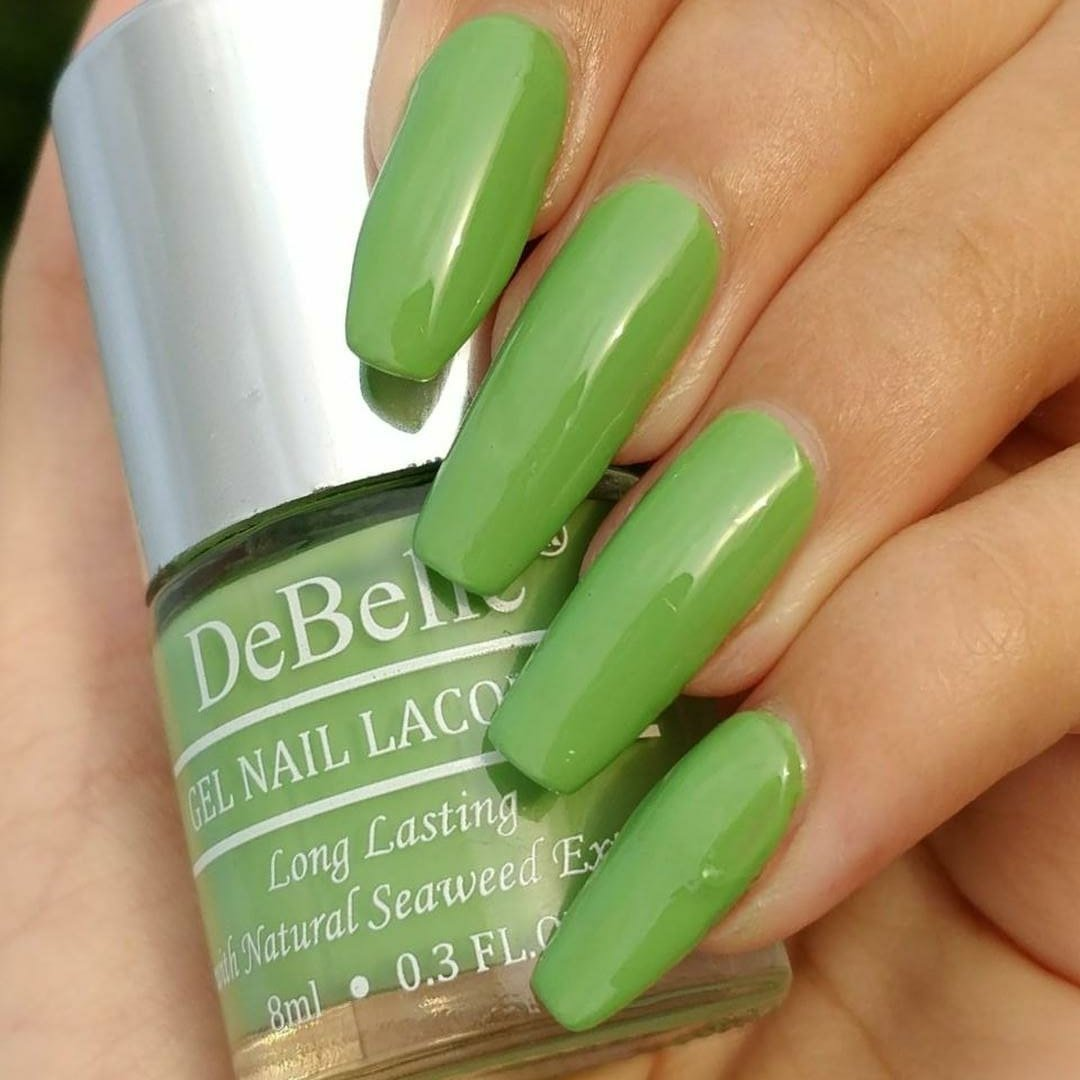 Buy DeBelle Gel Nail Lacquer Mystique Green - 8 ml (Pastel Green ...