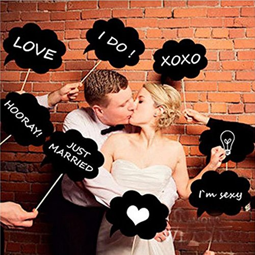 10 Pcs Baby Shower Photo Booth Props Kit for Baby Shower Wedding Birthday Party Favors Dress-up Costume