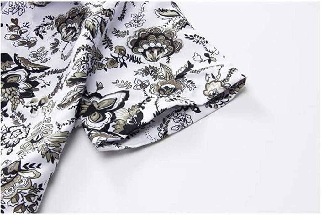 Mens Summer Shirts Pants Sets Fashion Floral Printed Suit Casual Short Sleeve Button Down Tops Shorts Outfit