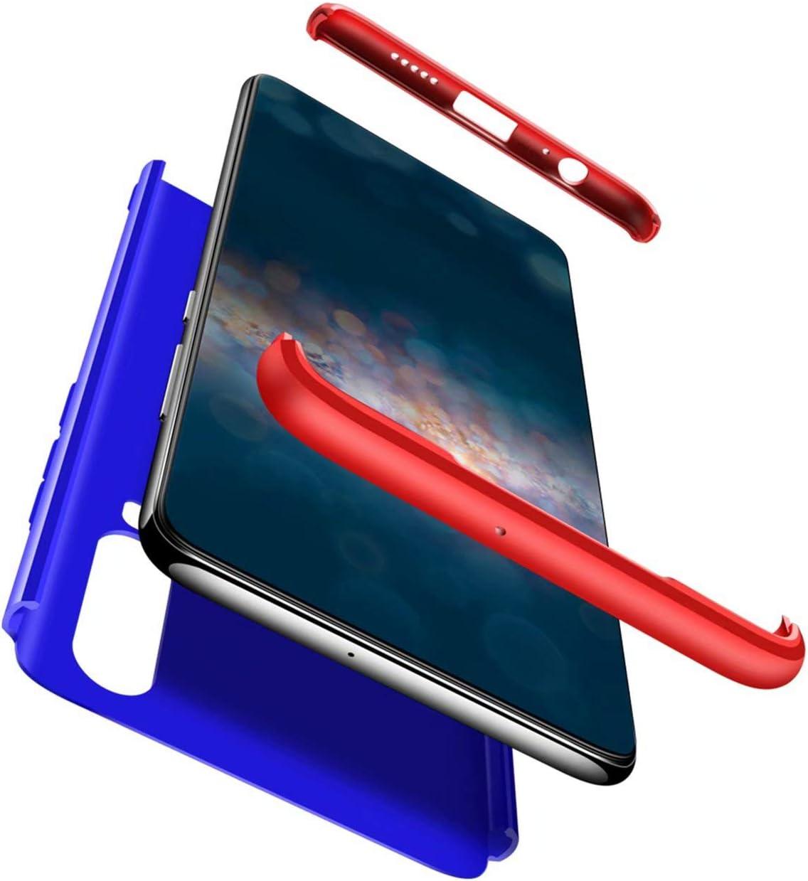 TXLING Funda Xiaomi Redmi Note3 Bumper 3 en 1 Estructura 360 Grados Case Ultra-Delgado Anti-rasguños Carcasa para Xiaomi Redmi Note3 Rojo Azul + Cristal Templado