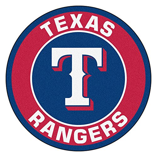 MLB Texas Rangers Rounded Non-Skid Mat Area Rug