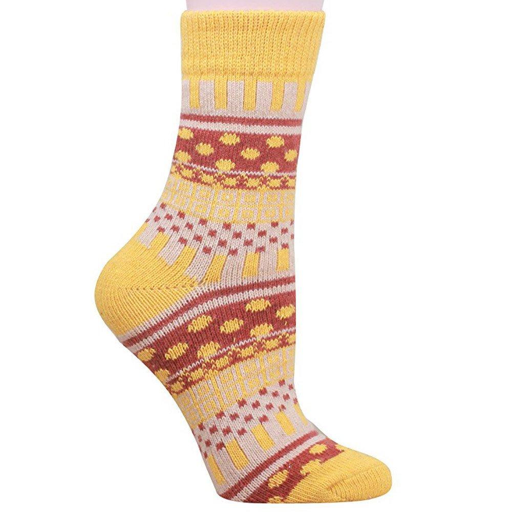 a54816a289 Amazon.com: URIBAKE ❤ Fashion Winter Women's Socks Comfortable Knit Printed  Warm Wool Socks 5 Pairs: Clothing