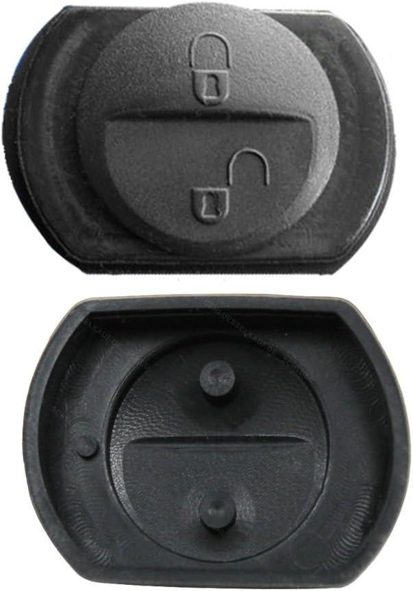 2x Schlüssel Gummitasten Für Smart Schlüssel 454 Forfour Misubishi Colt Ersatz Tasten Reparatur