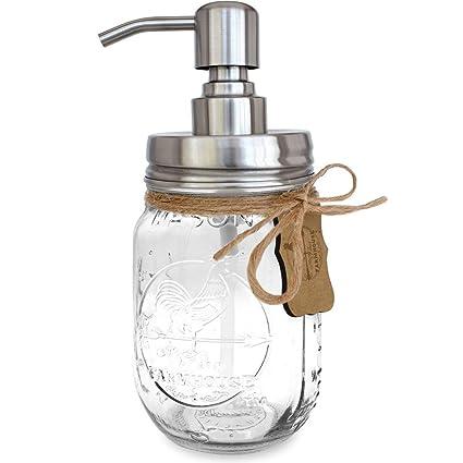 Dispensador de acero inoxidable/jabón, botellas de vidrio de emulsión/Bomba de jabón