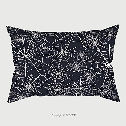 Custom Microfiber Pillowcase Protector Vector Spiderweb Halloween Texture Seamless Pattern 306385565 Pillow Case Covers (Scooby Doo Halloween Kiss)