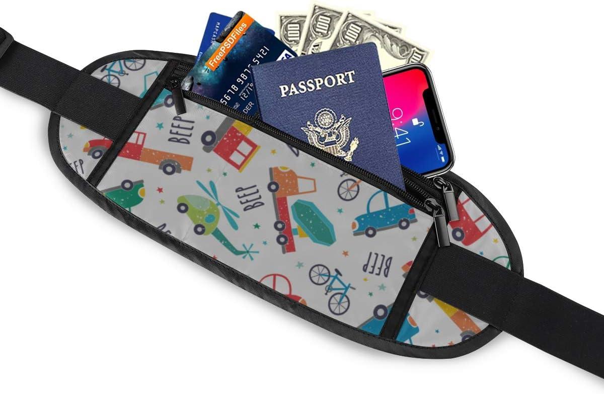 Cute Transport Pattern Cartoon Travel Running Lumbar Pack For Travel Outdoor Sports Walking Travel Waist Pack,travel Pocket With Adjustable Belt