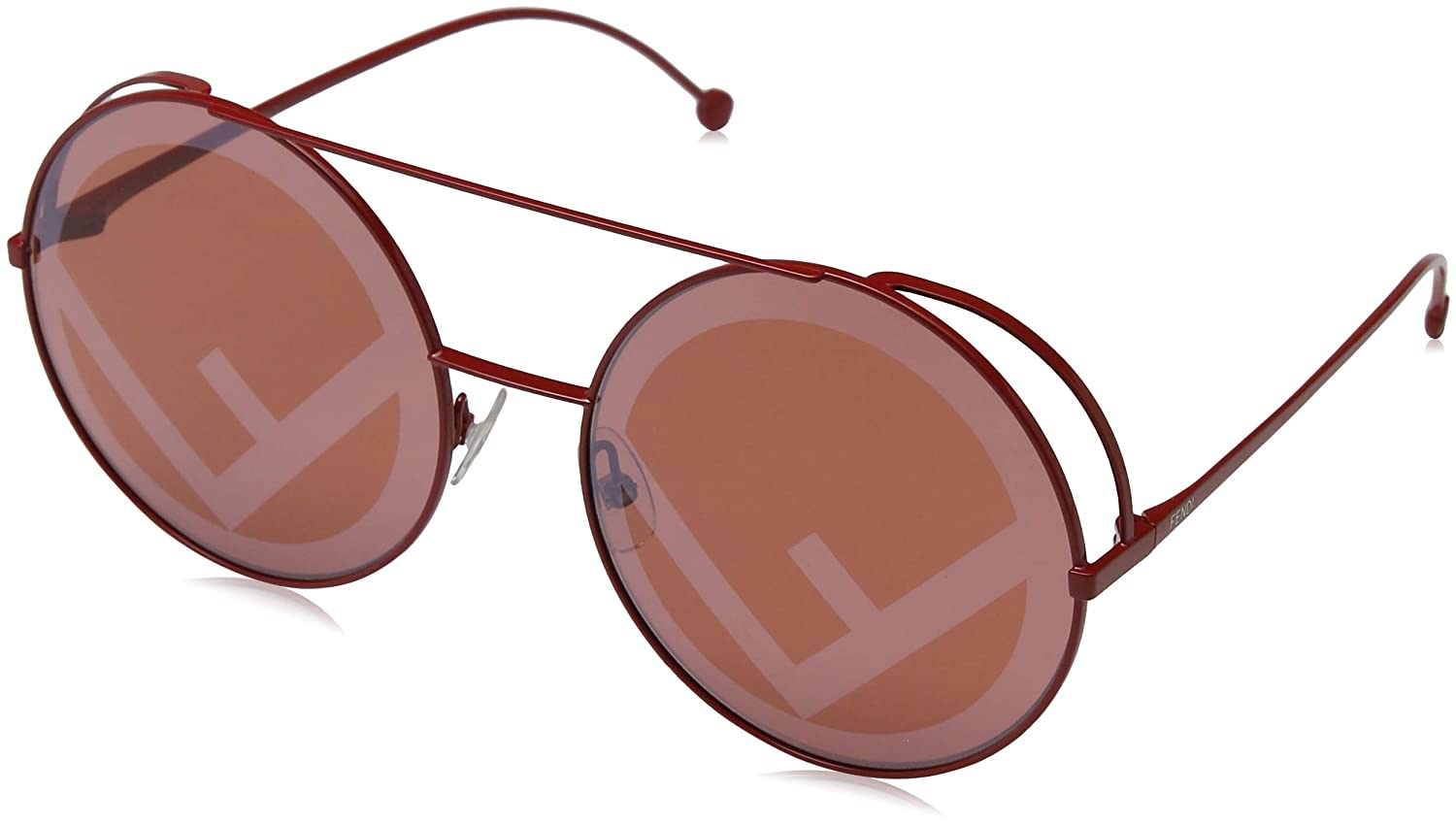 f322fc0853 Sunglasses Fendi Ff 285 S 0C9A Red 0L red dc lens at Amazon Men s Clothing  store