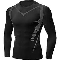 Sykooria Camiseta de Compresión Deportiva para Hombre Ropa Deportiva de Transpirable y Secado Rápido Correr Gym…