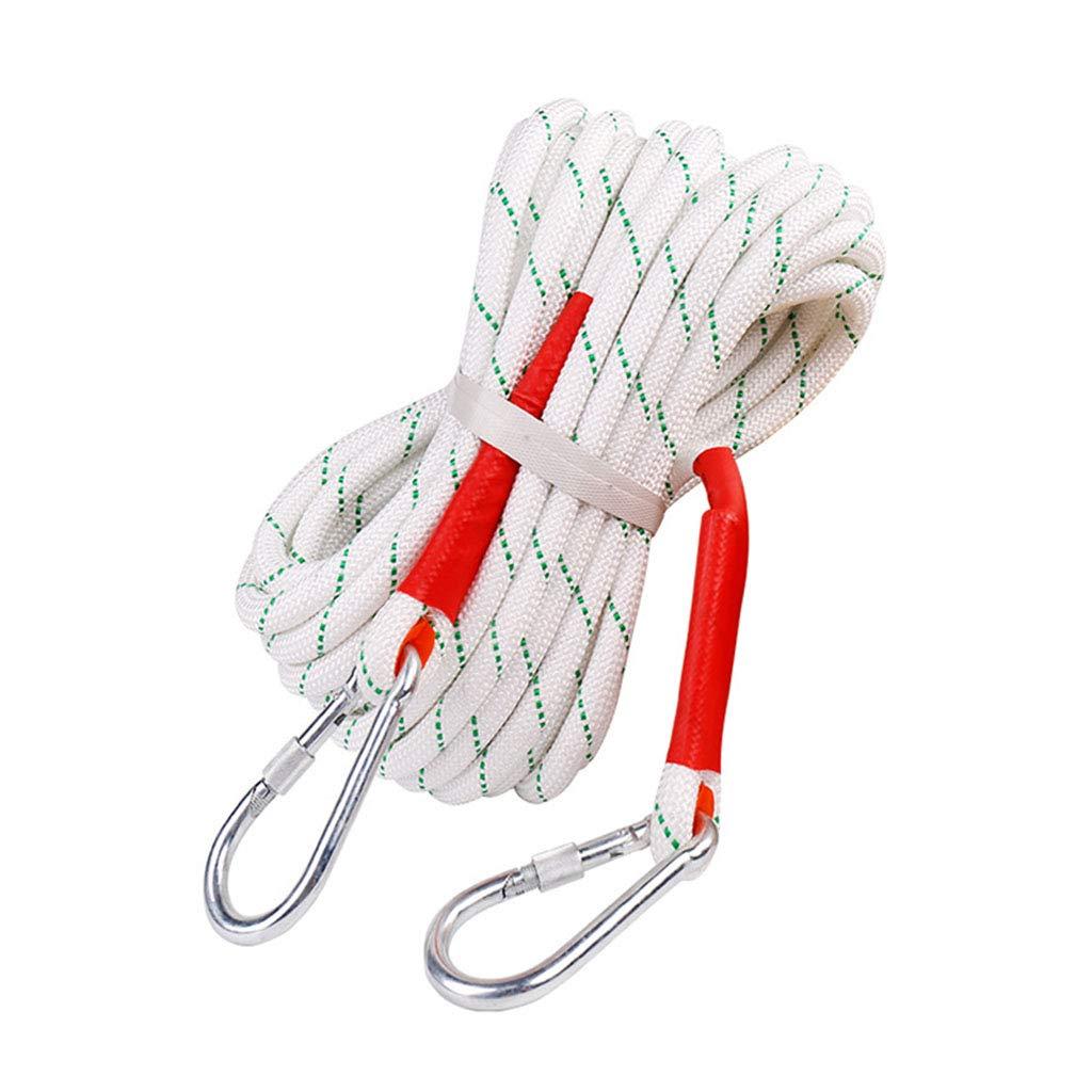 安全ロープ直径20 mm(4/5 in)屋外用スタティックロッククライミングロープ消防パラシュートロープパティオ傘交換用コードラインロープひも 100M  B07PQDTTYX