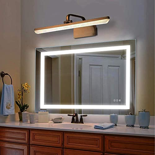 Reflexon 32×40 inch Bathroom Vanity Mirror, LED Backlit Wall Mounted Defogger Dimmable Touch Switch UL Listed Polished Eadge Frameless 5500K Cool White 3000K Warm CRI 90 Vertical Horizontal