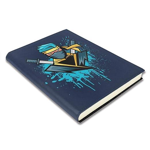 Funda para libro de 9 x 11 pulgadas Gamer azul Ninja ...