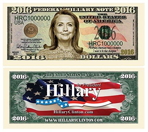 10-Pack Hillary Clinton 2016 Commemorative Bills