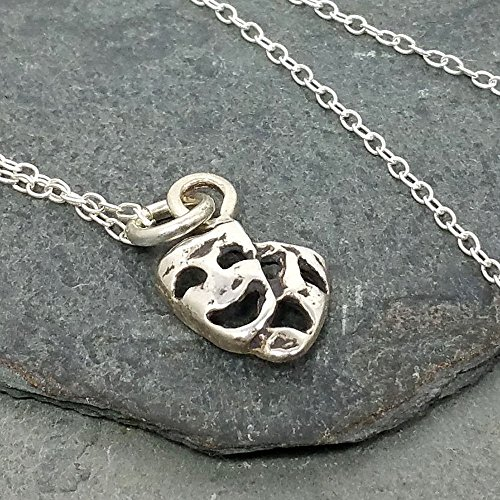 Drama Comedy Tragedy Necklace - 925 Sterling Silver