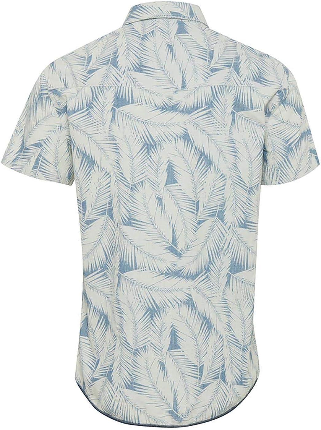 BLEND Camisa Denim Estampado Palmera: Amazon.es: Ropa y accesorios