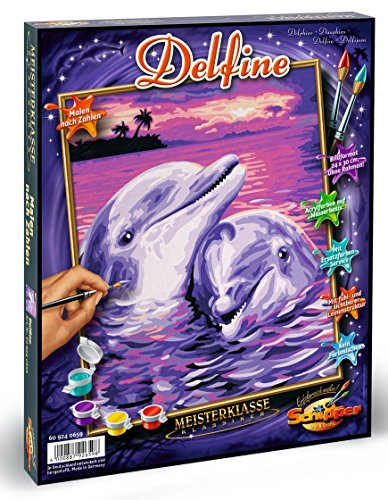 Schipper Dolphins Paint-by-Number Kit