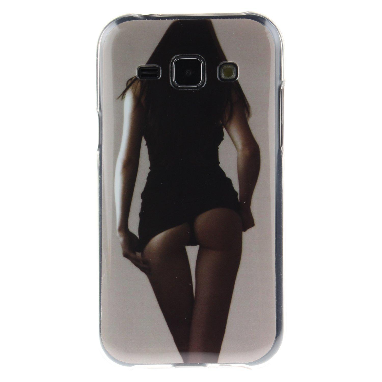Coque Samsung Galaxy J1 black Lion Samsung Galaxy J1 /Étui en TPU silicone Coffeetreehouse Housse Etui Protection Full Silicone Souple Ultra Mince Fine Slim pour Samsung Galaxy J1