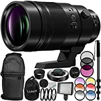 Panasonic Leica DG Elmarit 200mm f/2.8 POWER O.I.S. Lens 13PC Accessory Bundle – Includes Manufacturer Accessories + 3PC Filter Kit (UV + CPL + FLD) + MORE - International Version (No Warranty)