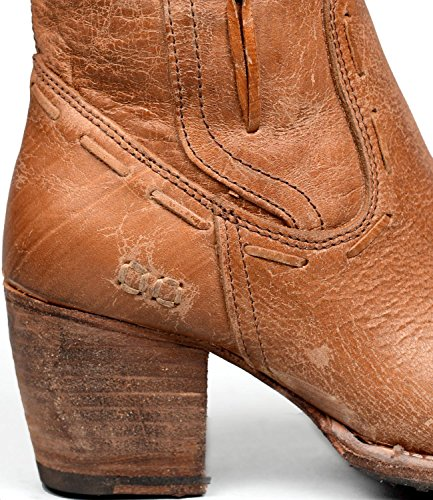 Säng | Stu Womens Öde Läder Boot Caramel Lux