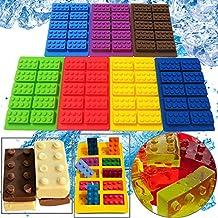 Silicone Lego Brick Shaped Ice Cube Tray Ice Box Chocolate Molds Jelly Chocolate Molds Candy Diy Fondant Cake Mould Bakeware