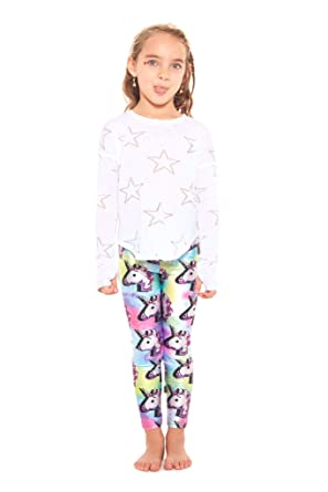 49b9f6df72158 Terez Leggings for Girls and Boys, Fun Rainbow Unicorn Pants, Workout  Clothes for Kids