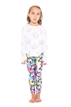 ba11920e4d Terez Leggings for Girls and Boys, Fun Rainbow Unicorn Pants, Workout  Clothes for Kids