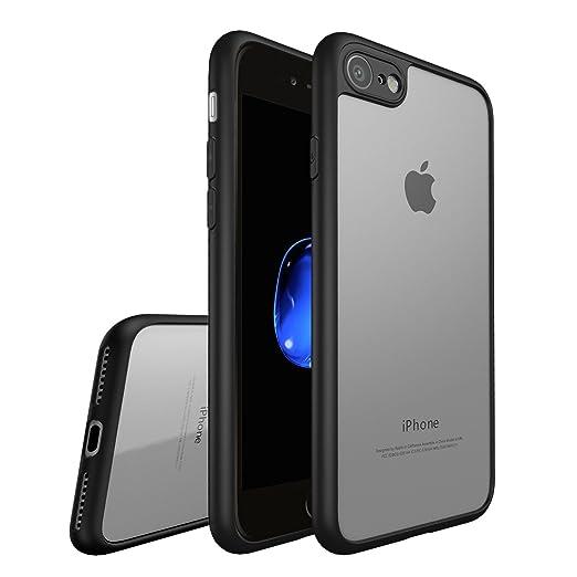 4 opinioni per Custodia iphone 7 Plus, Leathlux Trasparente PC & Silicone Cover Antiurto