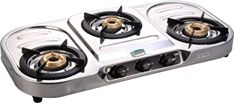 80365e17fc3 Buy GOLDEN SURYA Dura Stainless Steel 3 Burner Gas Stove (Silver ...